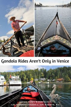The small town of Gig Harbor, Washington has gondola rides on an authentic Venetian gondola. Tour the harbor, enjoy your picnic snacks, and be serenaded in Italian.
