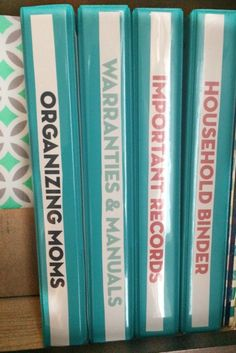 By organizing with binders, you can consolidate a lot of your paperwork and make it easily accessible.