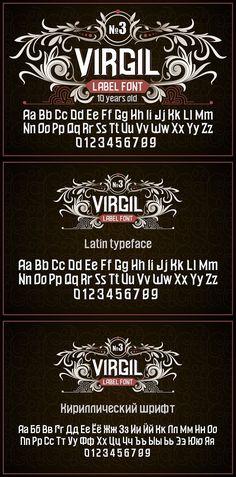 """Vintage otf font """"Virgil"""". Western Fonts Otf Font, Letter Games, Gothic Fonts, Photoshop, Vintage Gothic, Lettering, Western Fonts, Ornament, Alcohol"""