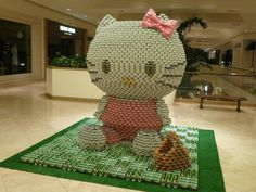 hello kitty  CANstuction sculpture