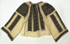 Romanian blouse The Metropolitan Museum of Art, New York Date: century Credit line: Bequest of Clarissa Gwendoline Condon, 1968 European Costumes, Folk Costume, Embroidered Blouse, Metropolitan Museum, Traditional Dresses, Kimono Top, One Piece, Style Inspiration, Clothes For Women