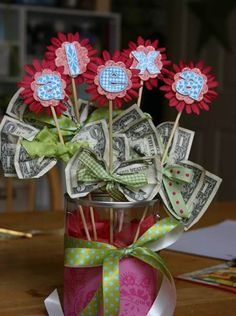 A bouquet of money