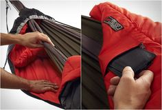 Brilliant! Removes the single biggest problem with winter hammock camping.