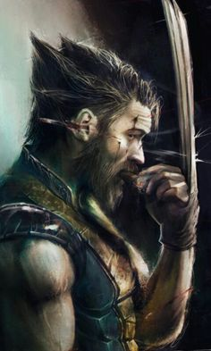 Tom Hardy as the Wolverine. Marvel's X Men character Wolverine / Logan Marvel Wolverine, Marvel Comics, Bd Comics, Marvel Heroes, Anime Comics, Logan Wolverine, Tom Hardy Wolverine, Logan Xmen, Wolverine Cartoon