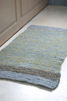 Love this hand knitted bath mat