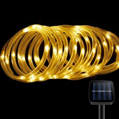 Amazon le 33ft 100 led solar rope lights waterproof outdoor solar rope lightsfindyouled outdoor waterproof 100led 33ft decoration lightautomatically working from dusk to dawnwarm white workwithnaturefo