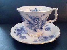 Vintage Royal Albert blue & white tea cup / by GrammyCamlynsAttic
