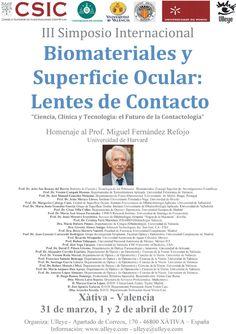 III Simposi Internacional Biomaterials i Superfície Ocular: Lents de Contacte