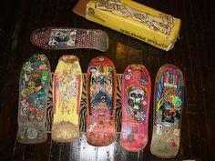 some of my old skate decks, via Flickr.