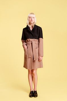 First arrivals of spring & summer 2017 collection are here. Biker Trench Coat in wool has a feminine and relaxed cut, and the wool material is nice and sof Trench, Biker, Feminine, Spring Summer, Wool, Jackets, Collection, Black, Style