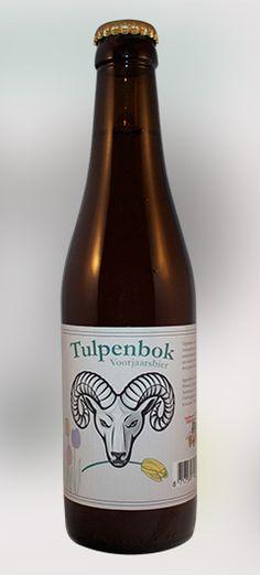 Tulpenbok - Lente Bok • 7% / Tulpenbok is een fris voorjaarsbier mer een lichte caramelsmaak, iets moutig en een mooie volle zoetigheid door gebruik van honing.  Ongefilterd en ongepasteuriseerd.