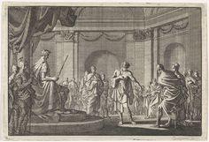 Jan Luyken | Antipater toont Caesar zijn wonden, Jan Luyken, Pieter Mortier, 1704 |