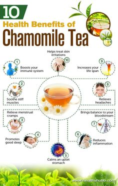 10 Health Benefits of Drinking Chamomile Tea. I grew up on chamomile tea, cold in a pitcher in the refrigerator. It is supposed to be a good rinse for natural blondes! & fitness and wellness salud health smoothies holistic Natural Cures, Natural Health, Chamomile Tea Benefits, Benefits Of Tea, Curcuma Benefits, Health Tips, Health And Wellness, Health Recipes, Health Care