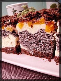Słodko-słone pichcenie: Sernik z makiem, kokosem i brzoskwiniami Tiramisu, Sweets, Cakes, Ethnic Recipes, Cooking, Gummi Candy, Cake Makers, Candy, Kuchen