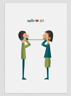 Illustration Chattering couple by Tutticonfetti