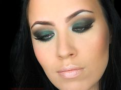 Emerald Green Smokey Eye Makeup Tutorial  #emeraldgreen #beauty #makeup