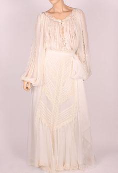 Demetria silk and lace dress