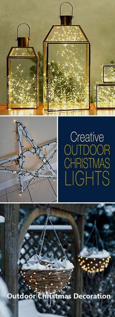 Creative Outdoor Christmas Light Ideas Christmas Pinterest
