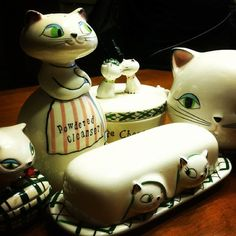Vintage 1950's Holt Howard Kitchen Collectibles  retro antique antiques kitty cat cats lladro willow tree Hummel cute