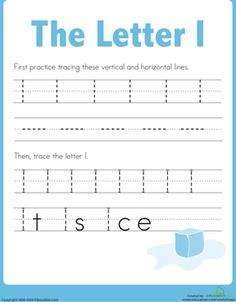 Practice Tracing the Letter I Worksheet