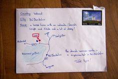 Un turista hizo un mapa en vez de escribir la dirección en un sobre