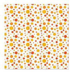 Orange Grove Dot Pattern Shower Curtain