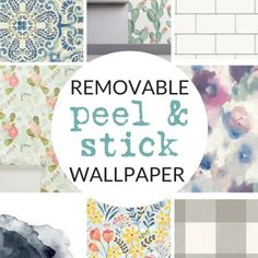 Temporary Wallpaper Shopping Guide The BEST Peel-and-Stick Vinyl Floor Tile & Decals - The Crazy Craft Lady Temporary Wallpaper, Diy Wallpaper, Self Adhesive Wallpaper, Peel And Stick Wallpaper, Inexpensive Flooring, Diy Flooring, Flooring Tiles, Bathroom Flooring, Floors