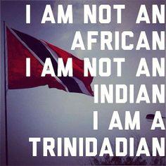 True Trini callaloo: Indian, African, Syrian, Carib Amerindian (however, I ID as Black and very proud!)