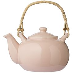 Bloomingville Alberte Teapot - Rose (25 AUD) ❤ liked on Polyvore featuring home, kitchen & dining, teapots, fillers, kitchen, home decor, cocina, pink, bloomingville and rose tea pot