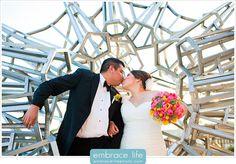 Modern Wedding Couple Portrait - Long Beach Wedding Photographer, LA Portraits, Los Angeles Ceremonies