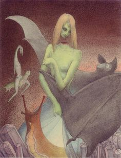 Walter Schnackenberg – The decapitated girl and the bat (1949)