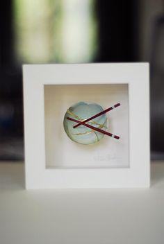 Kintsugi Eggshells Bowl and Chopsticks- 4 Framed Art, Japanese Art, Japanese, Visual, Pottery, Kintsugi, Art