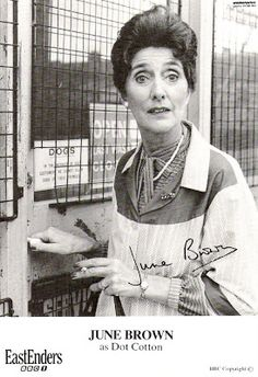 '80s Actual: EastEnders Dot Cotton June Brown, Eastenders' Dot Cotton #EE