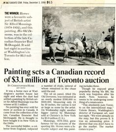 Alfred Munnings, Toronto Star, Horses, News, Artist, Movie Posters, Painting, Financier, Film Poster