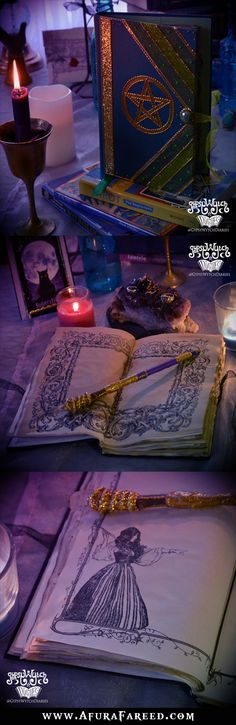 The Power of Five green witch book of shadows, handcrafted by GypsyWytch Diaries on Etsy
