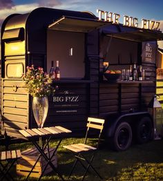 The Big Fizz mobile bar hire in Yorkshire www. Mobile Bar, Coffee Van, Coffee Shop, Hy Citroen, Converted Horse Trailer, Horse Box Conversion, Coffee Food Truck, Prosecco Van, Coffee Trailer