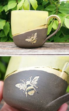 Latest Photographs pottery mugs bee Tips Etsy Shop Feature on So Super Awesome Pottery Mugs, Ceramic Pottery, Ceramic Art, Ceramic Mugs, Turkish Coffee Cups, Hand Painted Mugs, Clay Mugs, Bee Art, Bees Knees