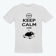 New Funny Keep Calm And Carry On Snorlax Sleep On Pokemon T Shirt Men Cotton Casual Short Sleeve T-shirt Tees