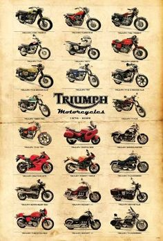 """Amazon.com: J-4402 Triumph Classic Motorcycle Poster#2 Size 24""""x35""""inch. Rare New - Image Print Phot: Posters & Prints"""