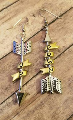 New to my Etsy shop https://www.etsy.com/listing/515525063/up-down-arrow-dangle-earrings-gifts-for