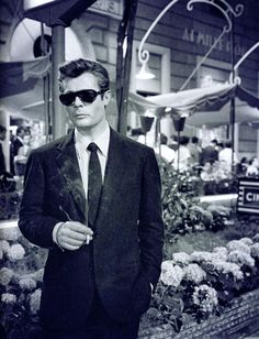 Marcello Mastroianni looking as suave as suave can possibly be. #vintage #1950s #Italian #actors #Dolce_Vita