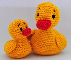 crochet pattern amigurumi duck& duckling by MOTLEYCROCHETCREW