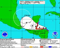 A tracking map from the National Hurricane Center shows the projected path for…