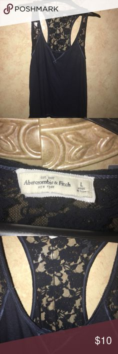 Abercrombie and fitch crop top size L Dark blue New witch tag crop top Abercrombie & Fitch Tops Crop Tops