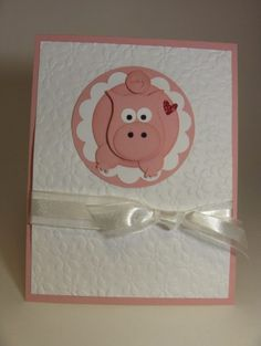Stampin' Up!  Owl Punch  Laura Haffke  Pig