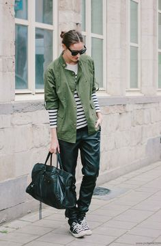Polienne | a personal style diary: THOSE PLEATHER PANTS