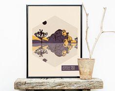 National Park Poster  Volcano  Anniversary by MMcKinneyDesigns