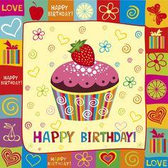 Free Birthday Cards | Happy Birthday elements card vector 01