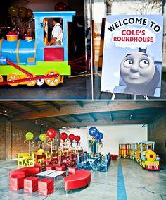 Thomas the Train party?  I think so!