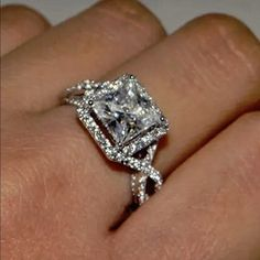Other Fine Rings Supply Cushion Cut 1.60 Ct Diamond Engagement Wedding Ring Size M N 14k White Gold Sale Spare No Cost At Any Cost